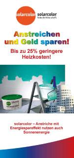 Flyer: Anstreichen und Geld sparen